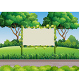 Bamboo frame in the park vector image vector image