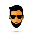 beard man with sunglasses vector image vector image