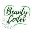 beauty center label eco style and wellness life vector image