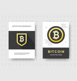 bitcoin web banners set cryptocurrency logo sigh vector image
