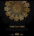 black and gold elements vintage invitation with vector image