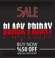 black friday sale poster and eps file vector image vector image