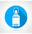 Bottle of potable water blue round icon vector image