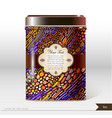 box design product package tea coffee vector image vector image