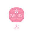 cake house logo baking bakery emblem vector image