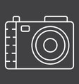camera line icon photo and capture vector image vector image