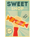 candy shop hand vector image vector image