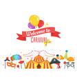 carnival banner design template vector image