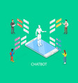 chatbot flat isometric concept vector image vector image