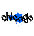 chicago sticker stamp vector image vector image