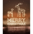 Christmas card with Magic Deer and lights vector image vector image