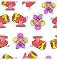 circus theme element doodle style vector image vector image