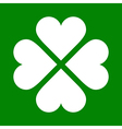 clover with four leaves icon saint patrick symbol vector image vector image
