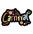 color carnival vector image