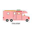 colorful camper entertainment car mobile home vector image vector image