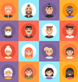 Composition of diverse smiling faces of men and vector image vector image