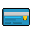 credit card isolated vector image vector image