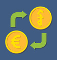 Currency exchange Euro and Riel vector image vector image