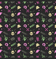 cute halloween pattern background vector image vector image