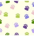 dog paws pattern print trace color vector image vector image