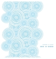 doodle circle water texture vertical frame vector image vector image