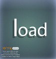 Download now icon Load symbol On the blue-green vector image