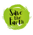 ecological concept for earth day vector image