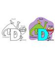 english alphabet coloring book d vector image vector image