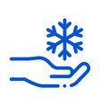 fancy snowflake sign icon outline vector image