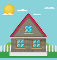 flat house vector image vector image