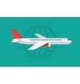 flying airplane sign vector image vector image