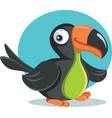 funny cartoon toucan bird vector image