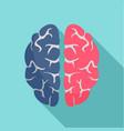 genius brain icon flat style vector image vector image