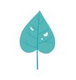 green tropical leaf foliage nature cartoon vector image vector image