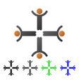 hands up men flat gradient icon vector image vector image