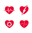 heart abstract set vector image vector image