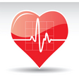 heart with cardiogram vector image vector image