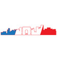 isolated cityscape of paris vector image vector image