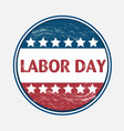 labor day usa pin vector image
