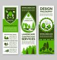 landscape design service banners set vector image vector image