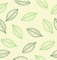 leaf seamless endless background vector image vector image