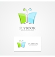 Logo with a combination of book and butterfly vector image vector image
