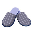 male slippers home shoes or footwear with striped vector image