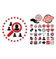 Marketing Flat Icon with Bonus vector image vector image