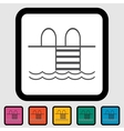 Pool icon vector image vector image