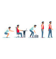 posture and healthy spine correct sitting at desk vector image