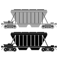 Railway carriage for bulk cargo vector image