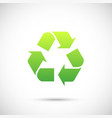 recycle sign icon isolated on white background vector image vector image