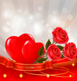red roses with hearts vector image