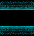 retro neon light synthwave sci-fi background vector image vector image